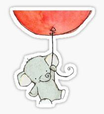 flying elephant Sticker