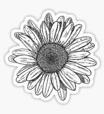 sunflower doodle Sticker