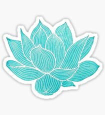 blue lotus flower Sticker