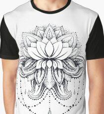 ornamental Lotus Graphic T-Shirt