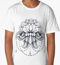 ornamental Lotus Long T-Shirt