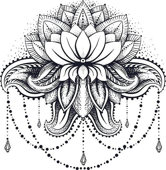 ornamentaler Lotus von OlgaBerlet