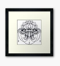 ornamental Lotus Framed Print