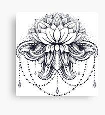 ornamental Lotus Canvas Print
