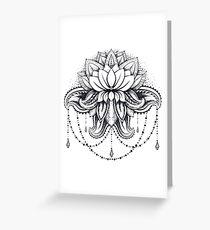 ornamental Lotus Greeting Card