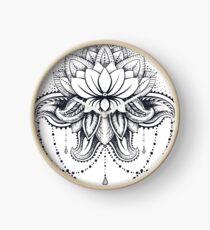 ornamental Lotus Clock