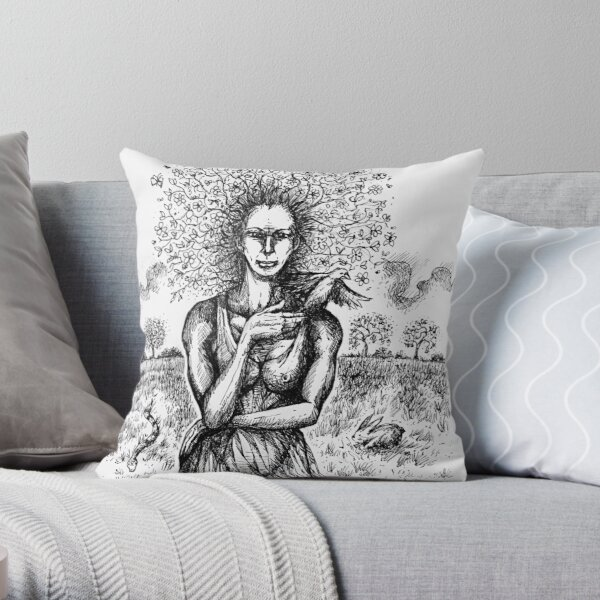 'Mother Earth'  Throw Pillow