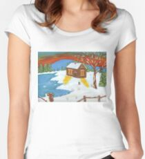 Canadian Winter Women's Fitted Scoop T-Shirt