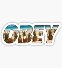 OBEY PINEAPPLE Sticker