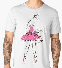 sketch of girl's ballerina  Men's Premium T-Shirt