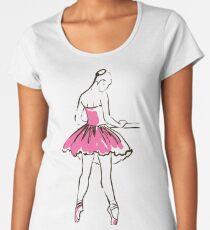 sketch of girl's ballerina  Premium Scoop T-Shirt
