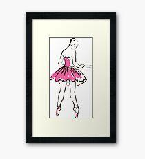 sketch of girl's ballerina  Framed Print