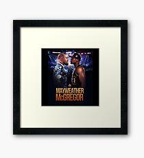 mcgregor vs mayweather fight Framed Print