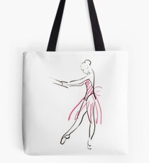 sketch of girl's ballerina  Tote Bag