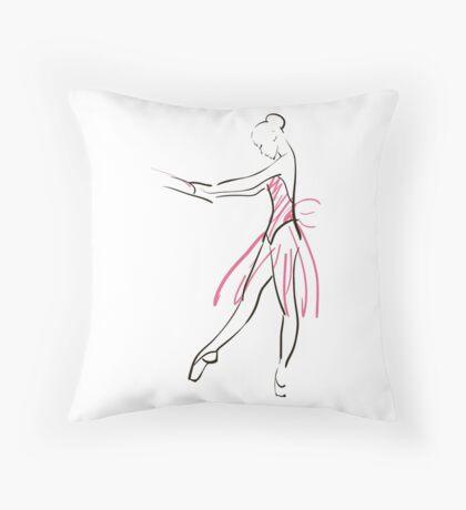 Skizze der Ballerina des Mädchens Dekokissen
