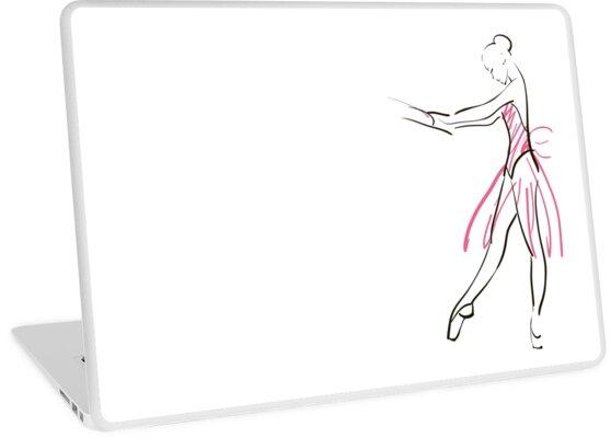 Vinilos para portátiles «boceto de la bailarina de la niña» de ...