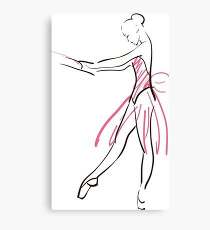 Skizze der Ballerina des Mädchens Leinwanddruck