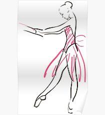 sketch of girl's ballerina  Poster