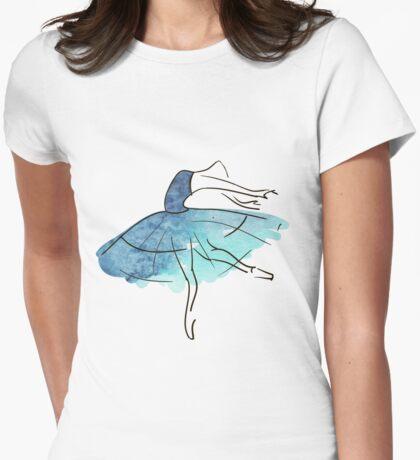 Ballerina Figur, Aquarell T-Shirt