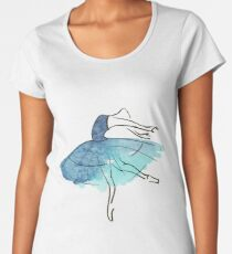 ballerina figure, watercolor Women's Premium T-Shirt