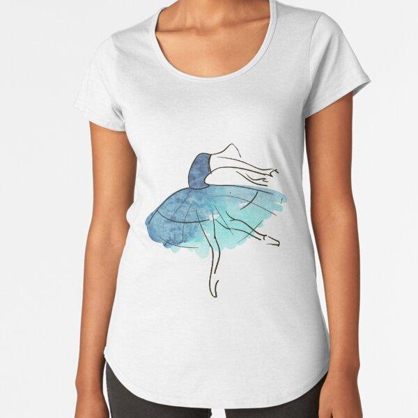 ballerina figure, watercolor Premium Scoop T-Shirt