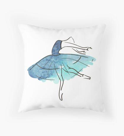 Ballerina Figur, Aquarell Dekokissen
