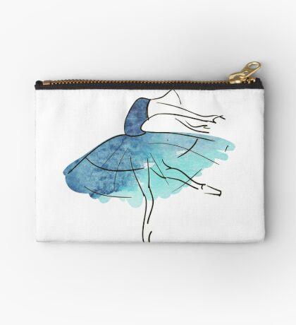 Ballerina Figur, Aquarell Täschchen