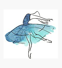 ballerina figure, watercolor Photographic Print