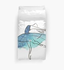 ballerina figure, watercolor Duvet Cover