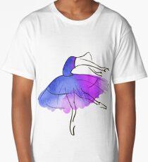 ballerina figure, watercolor Long T-Shirt
