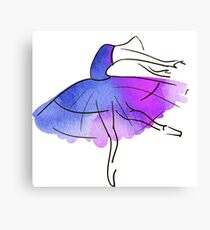 ballerina figure, watercolor Canvas Print