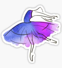 ballerina figure, watercolor Sticker