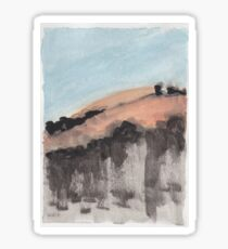abstract landscape gouache sticker Sticker