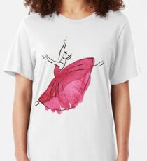 ballerina figure, watercolor Slim Fit T-Shirt