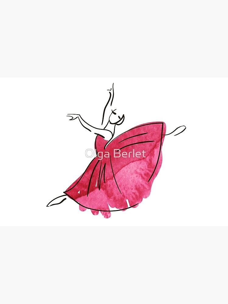 Ballerina Figur, Aquarell von OlgaBerlet