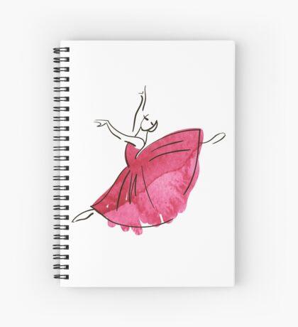 Ballerina Figur, Aquarell Spiralblock
