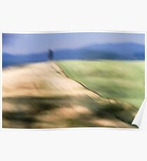 Out of focus and blurred landscape  Poster