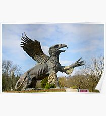 Griffin statue in a cemetery  Poster