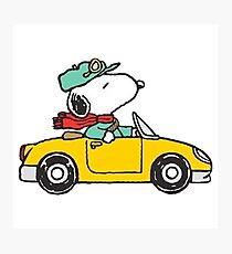 The Peanuts - Snoopy Car Photographic Print