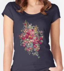 Bouquety Tailliertes Rundhals-Shirt