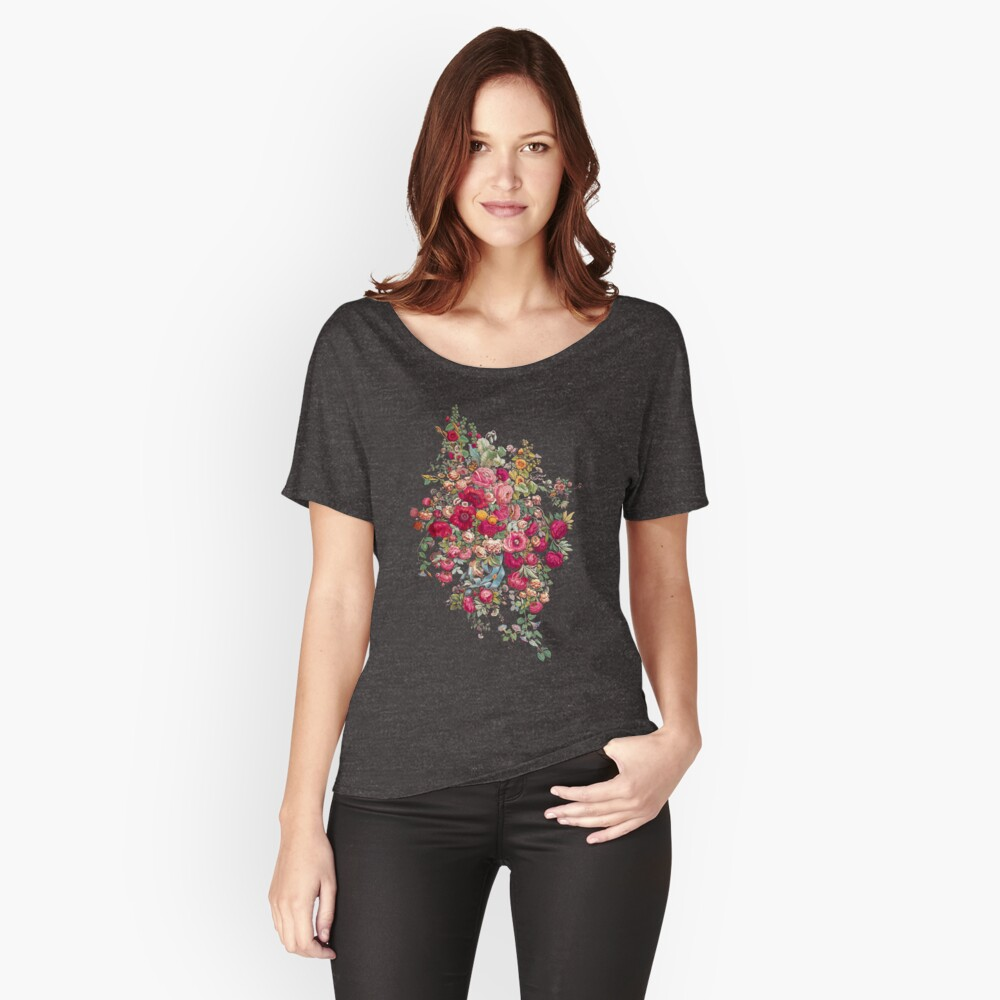 & quot; Bouquety & quot; Baggyfit T-Shirt