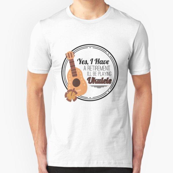 Kids Funny UKULELES ROCK Ukulele Guitar Guitarist Unisex Novelty Music T-Shirt