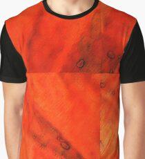 Abstract - Orange Fiber Bangs Graphic T-Shirt