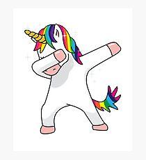 Unicorn Dab Shirt Dabbing Funny Magic Hip Hop T-Shirt For Men, Women, and Kids Photographic Print