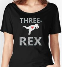 3 Year Old Birthday Gift T-Shirt Dinosaur Tee Women's Relaxed Fit T-Shirt