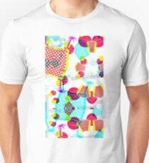 Memphis Design 80's Tropical Glitch Vaporwave Pattern T-Shirt