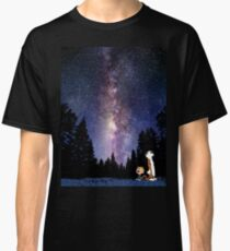 galaxy calvin and hobbes Classic T-Shirt