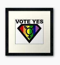 vote yes Framed Print