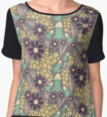 Blooms, Bells and Blades (Purple) Women's Chiffon Top