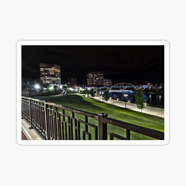 HDR Columbus City Landscape  Sticker